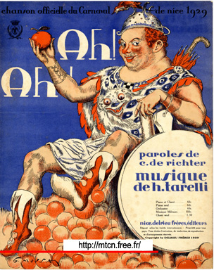Ah ! Ah !  Official song of the carnival of Nice 1929