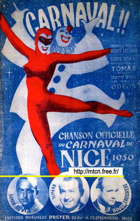 Carnaval Carnival Official song of the carnival of Nice 1950